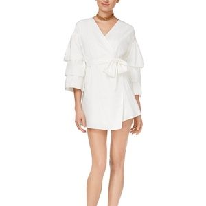 ENDLESS ROSE Lake Poplin Wrap Dress